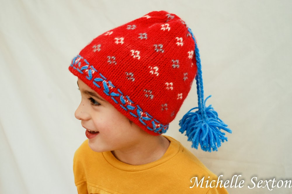 Make this easy beanie with only a minimal amount of sewing - click through and find out how.