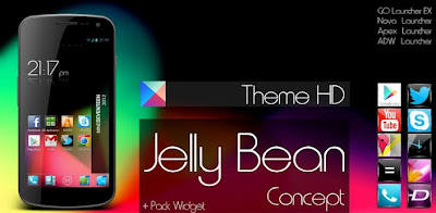 Jelly Bean HD Theme 5 in 1 .Apk 1.8 Android [Full] [Gratis]