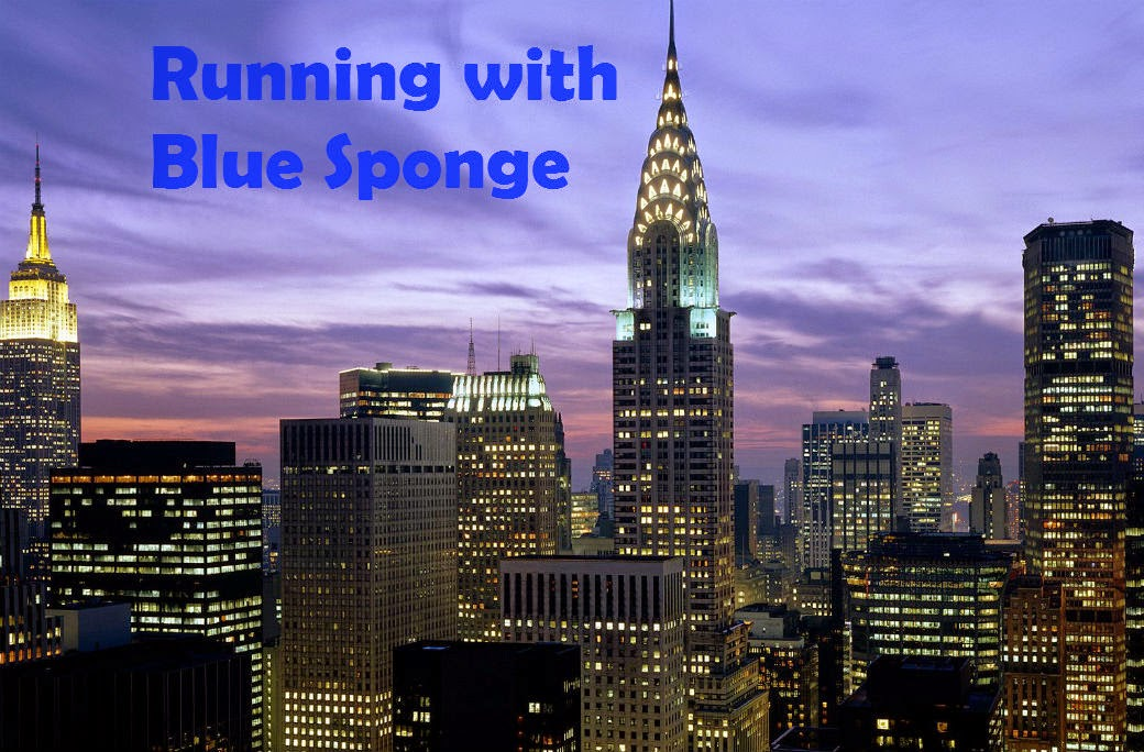 Running With Blue Sponge