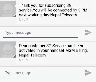 Activating Nepal Telecom 3G in Phone