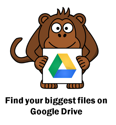 Direct link to a display showing all documents in the current user's Google Drive Quote, sorted descending by file size