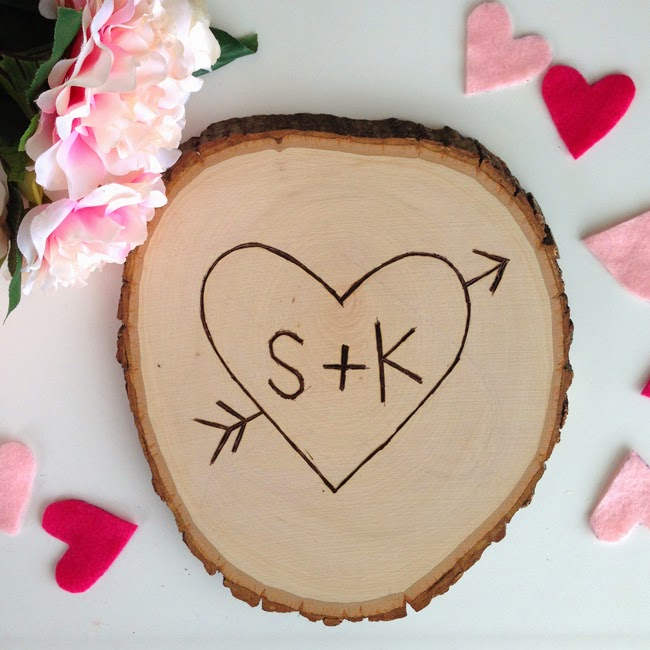 How to make your own Heart Initials in a Tree- Valentine's Day decor