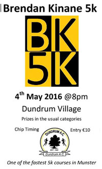 Fast 5k in Dundrum nr Cashel...Wed 4th May