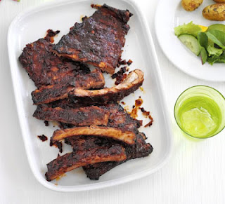 Sticky Ribs With Roast Potato Salad Recipe