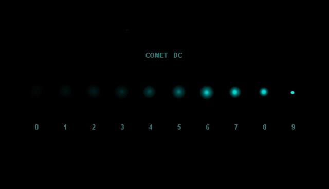 Grado condensacion cometa