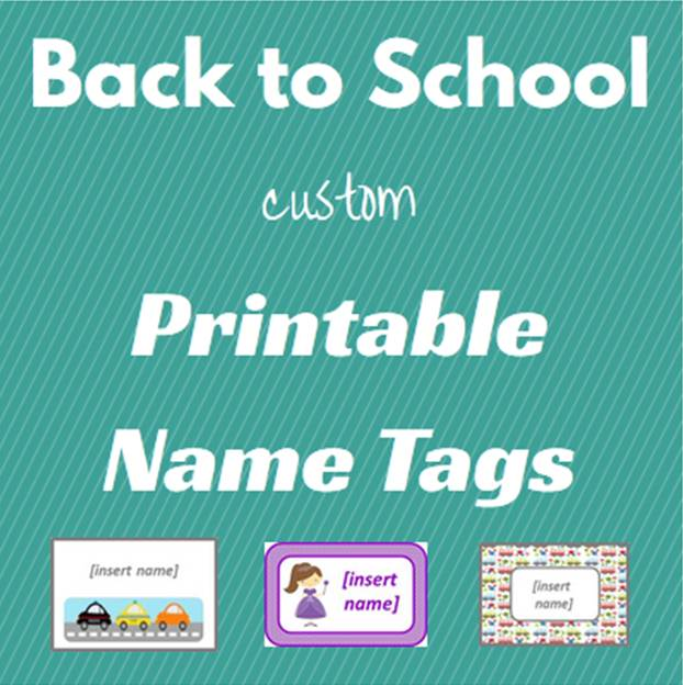 back to school custom printable name tags keeping it real