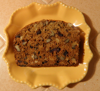 Slice of Date Nut Bread