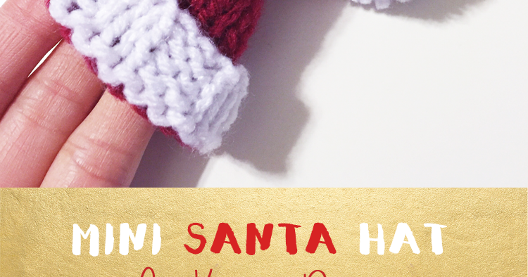 Purllin Happy Holidays Knit Miniature Santa Hat
