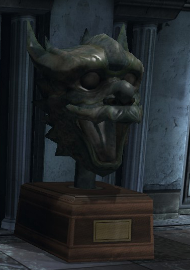 Jade Dragon Head Statue