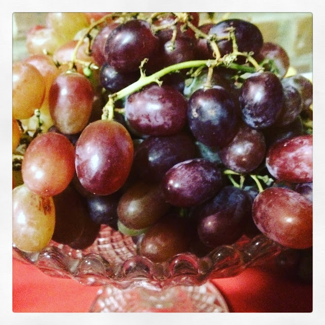 grapes in a Victorian glass bowl #50bestpass