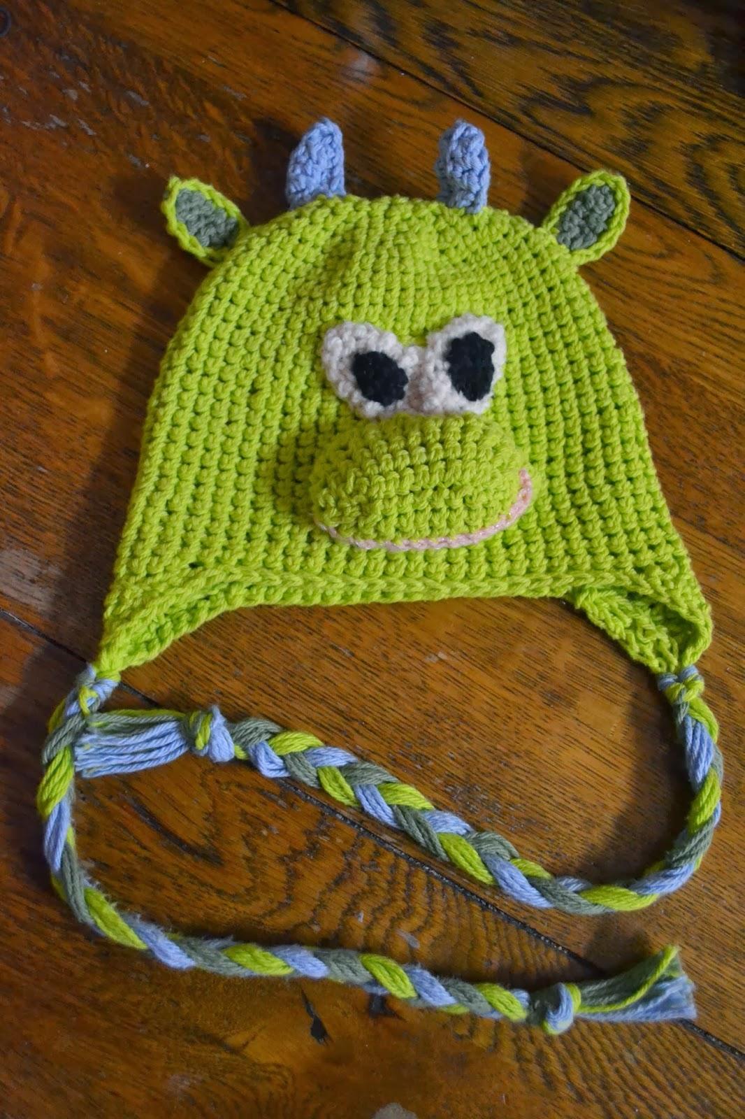 Atot\'s Crafts: Free Pattern Green Dragon / Dinosaur Crochet Hat