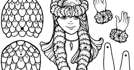 Ba da web boneca de papel sereia articulada para - Papel de pared para pintar ...