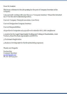Job Application Letter Secretary Position
