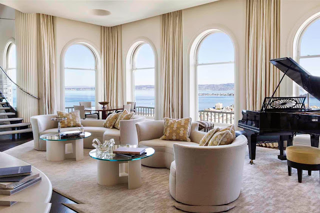 In The Living Room Are By Marco Fine Furniture A Yearold Upholstery Company  On Potrero Hill Arched Windows Are Framed In Nancy Corzine Fabric With Nancy  ...