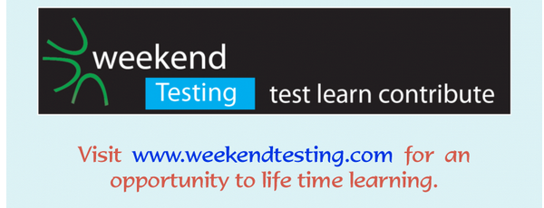 Weekend Testing - Volunteer
