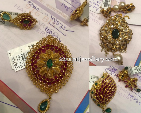 Below 15 grams pendant sets jewellery designs below 15 grams pendant sets aloadofball Images