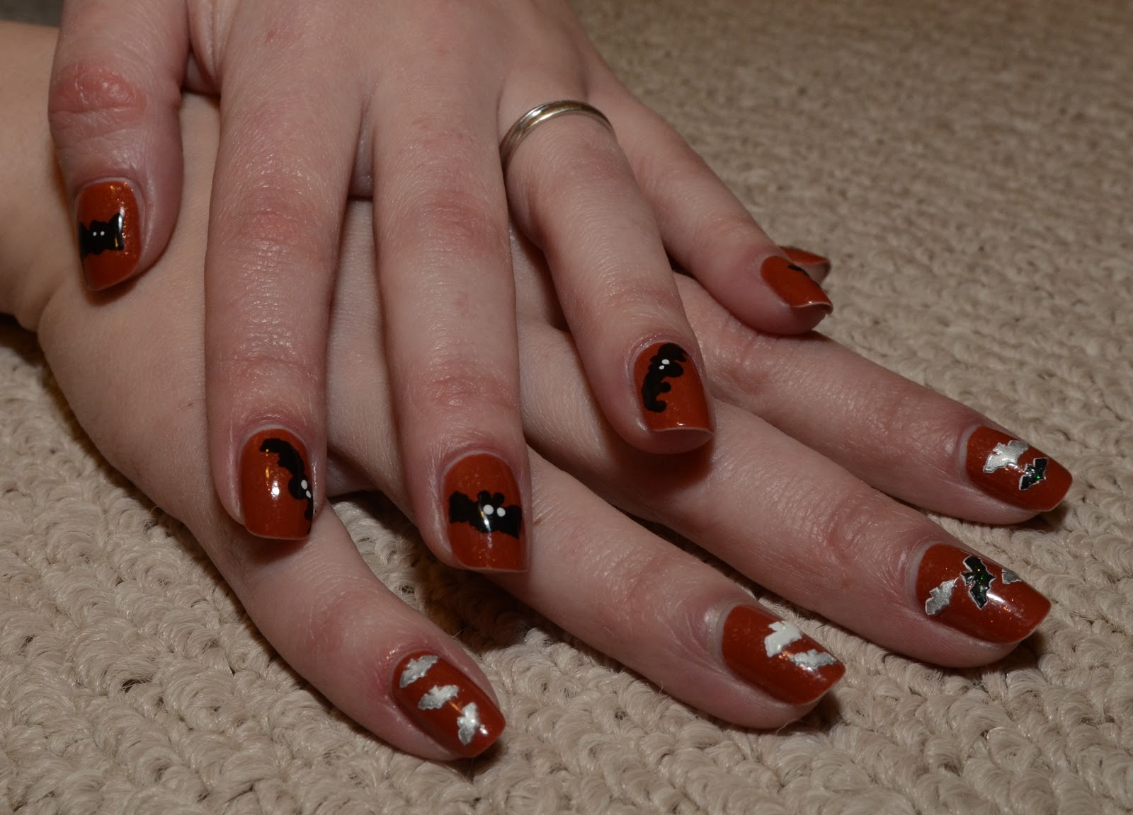 """pris' nails: """"this is halloween"""" - bats"""