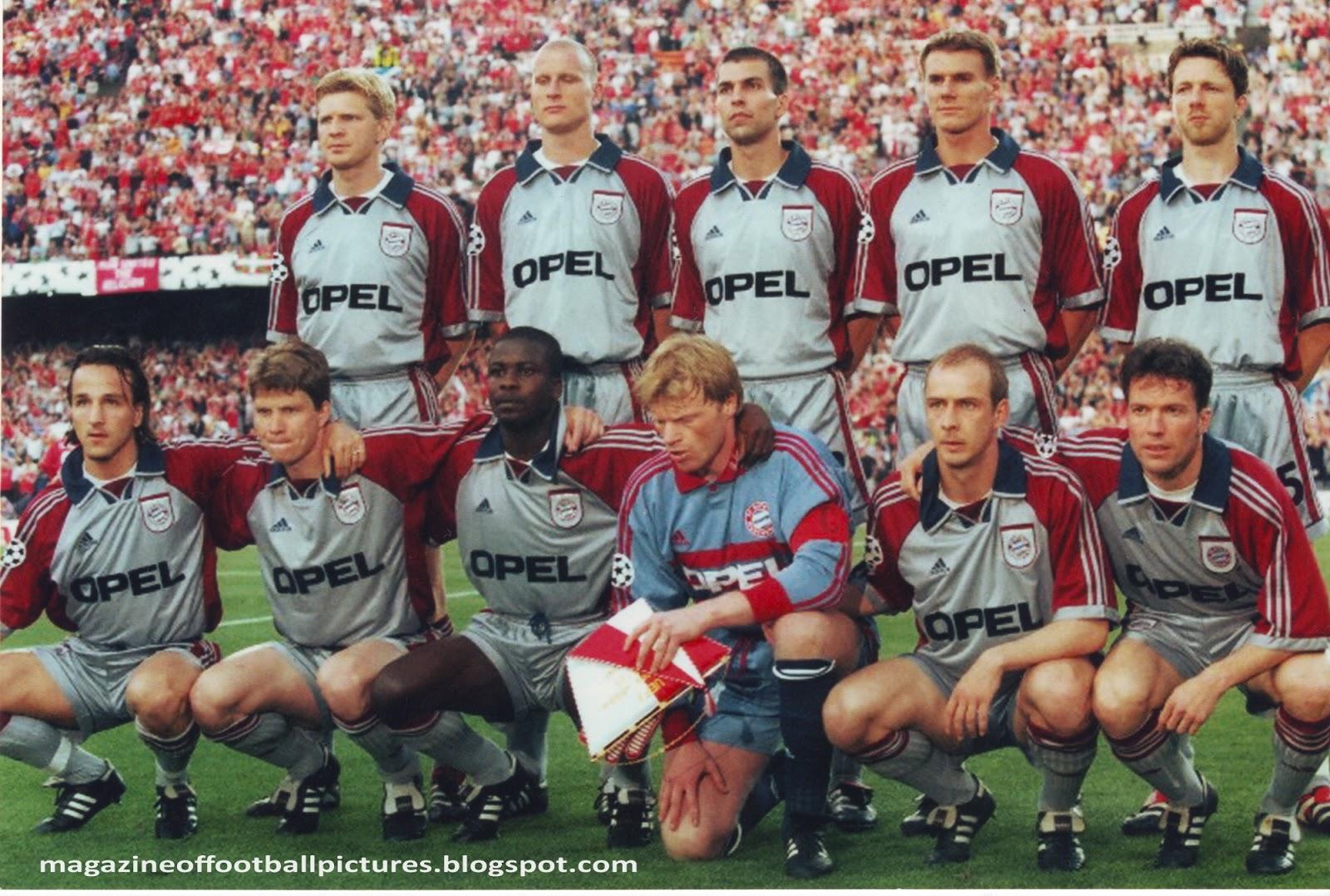 The Bayern Munich Team Before European Champions League Final Against Manchester United In Nou Camp Stadium Barcelona Spain