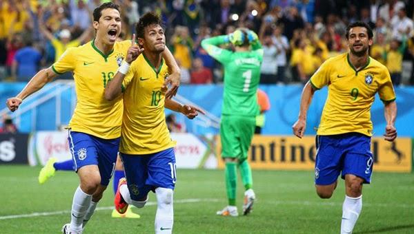 gol neymar brazil vs kroasia 3:1