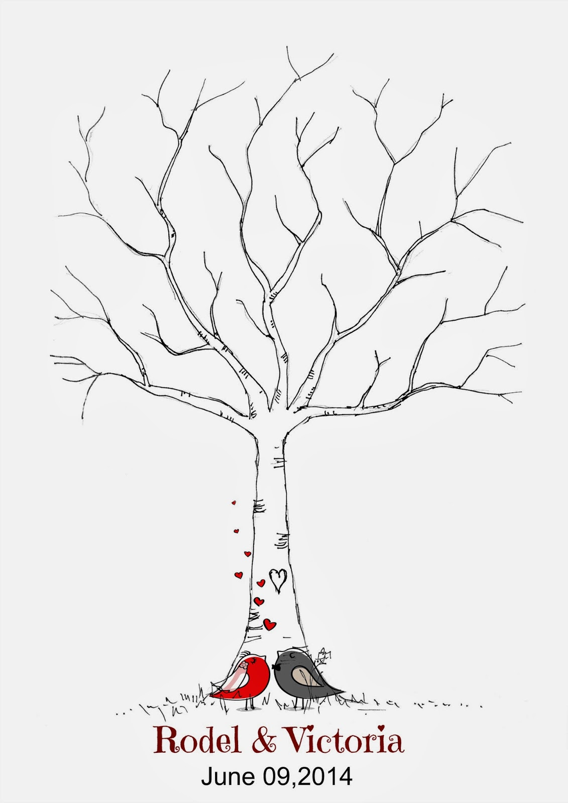 Free Book Chuchubells Wedding Download Fingerprint Tree DIY Of Project Miss Guest