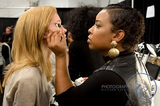 Mehron Makeup Artist at Fashion Week