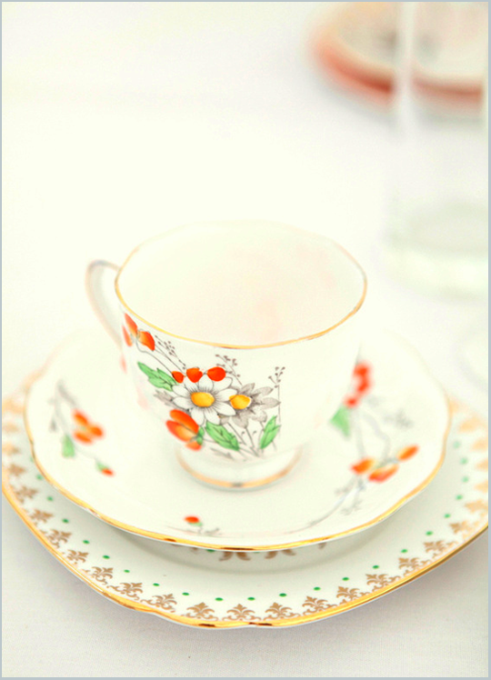 floral vintage teacup and plate