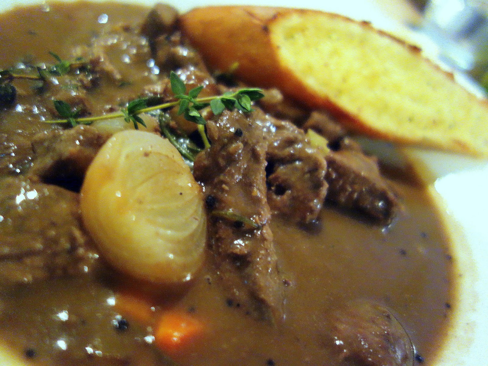 Beef bourguignon (RM30++), an aromatic stew with braised grass-fed ...