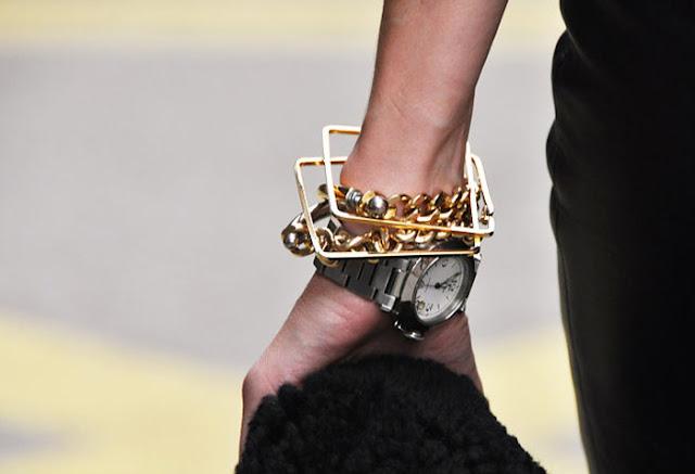 Gold Bracelet, Silver watch