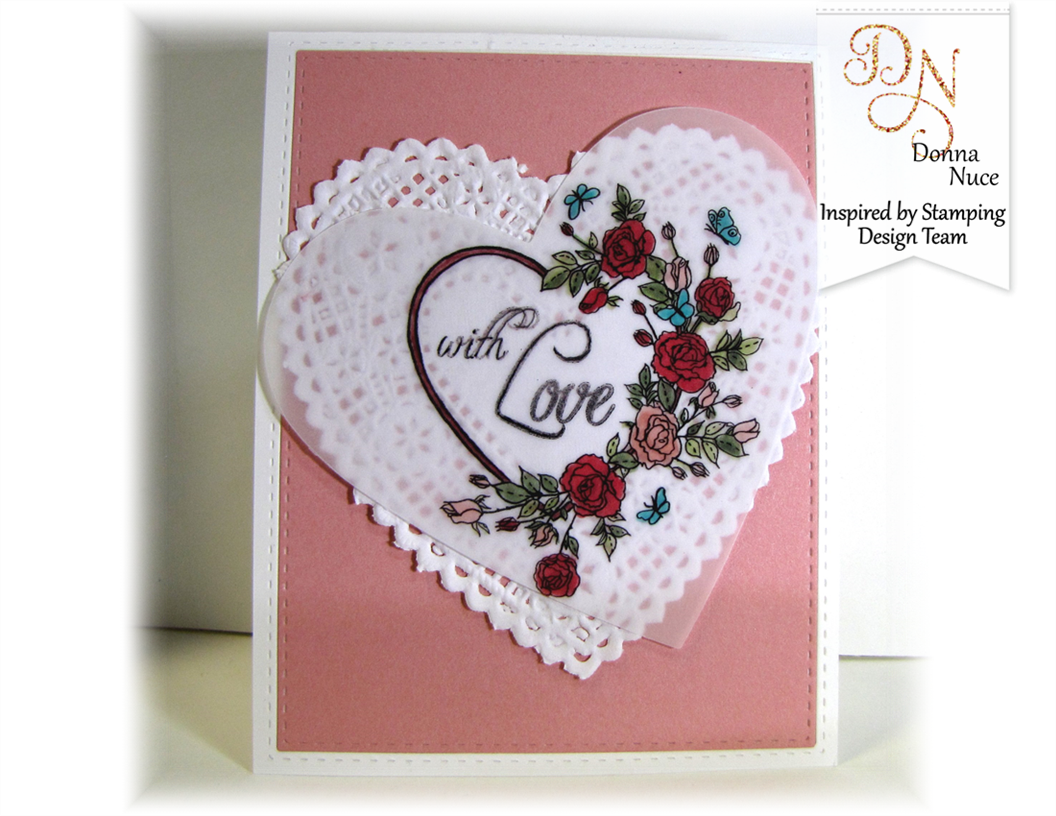 Inspired by Stamping, Crafty Colonel, Newsletter Valentin'e Day Wreath Digital Stamp, All Year Wishes, Love Card