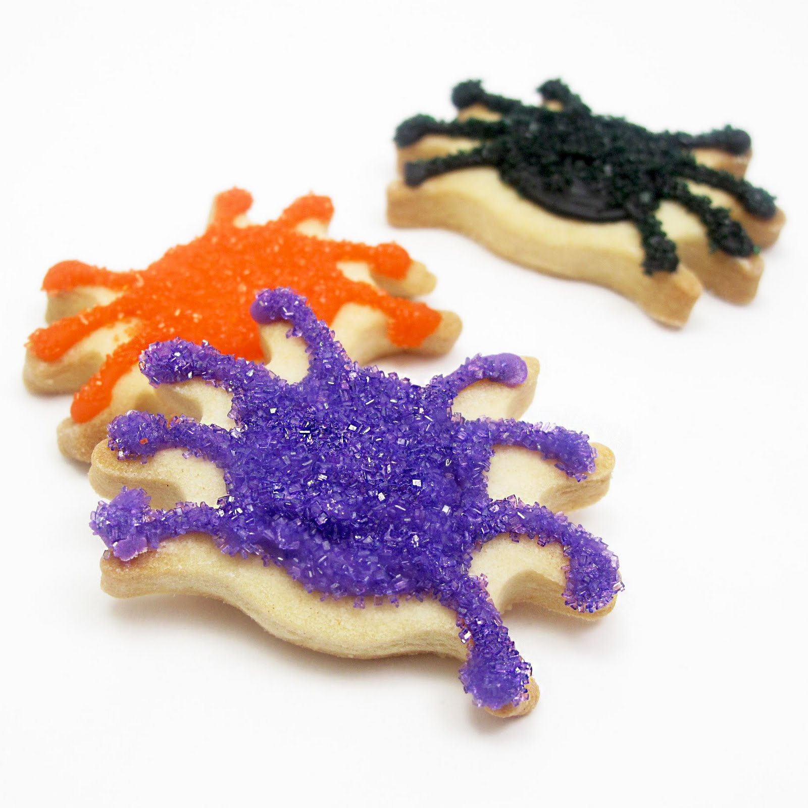 food gifts for halloween: sparkly spider cookies