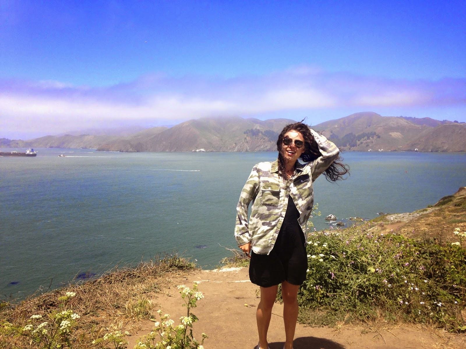 San Francisco golden gate bridge travel blog pacific coast highway cali dream California vaca camo ootd big hair