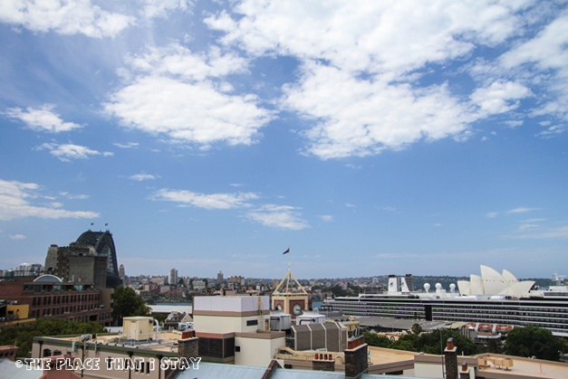 Australia trip - Sydney - Sydney Harbor YHA - Sydney Harbour Bridge and Opera House from the rooftop