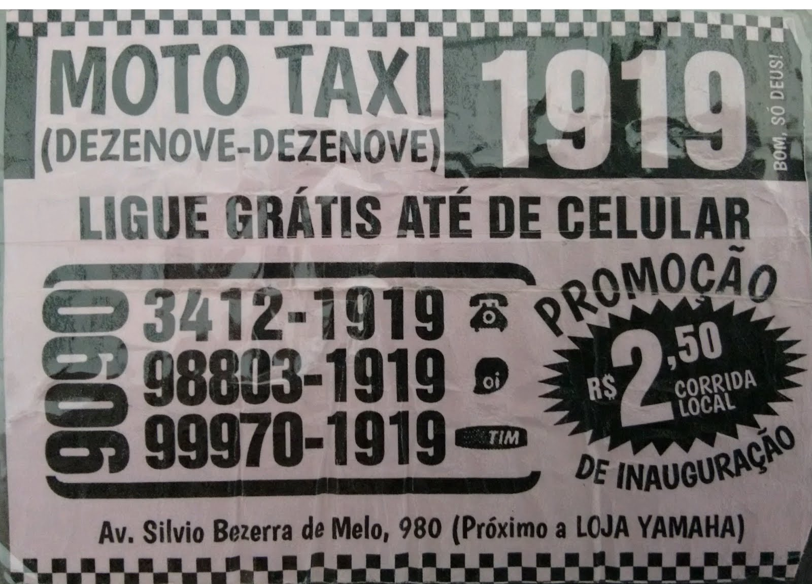Moto Táxi 1919