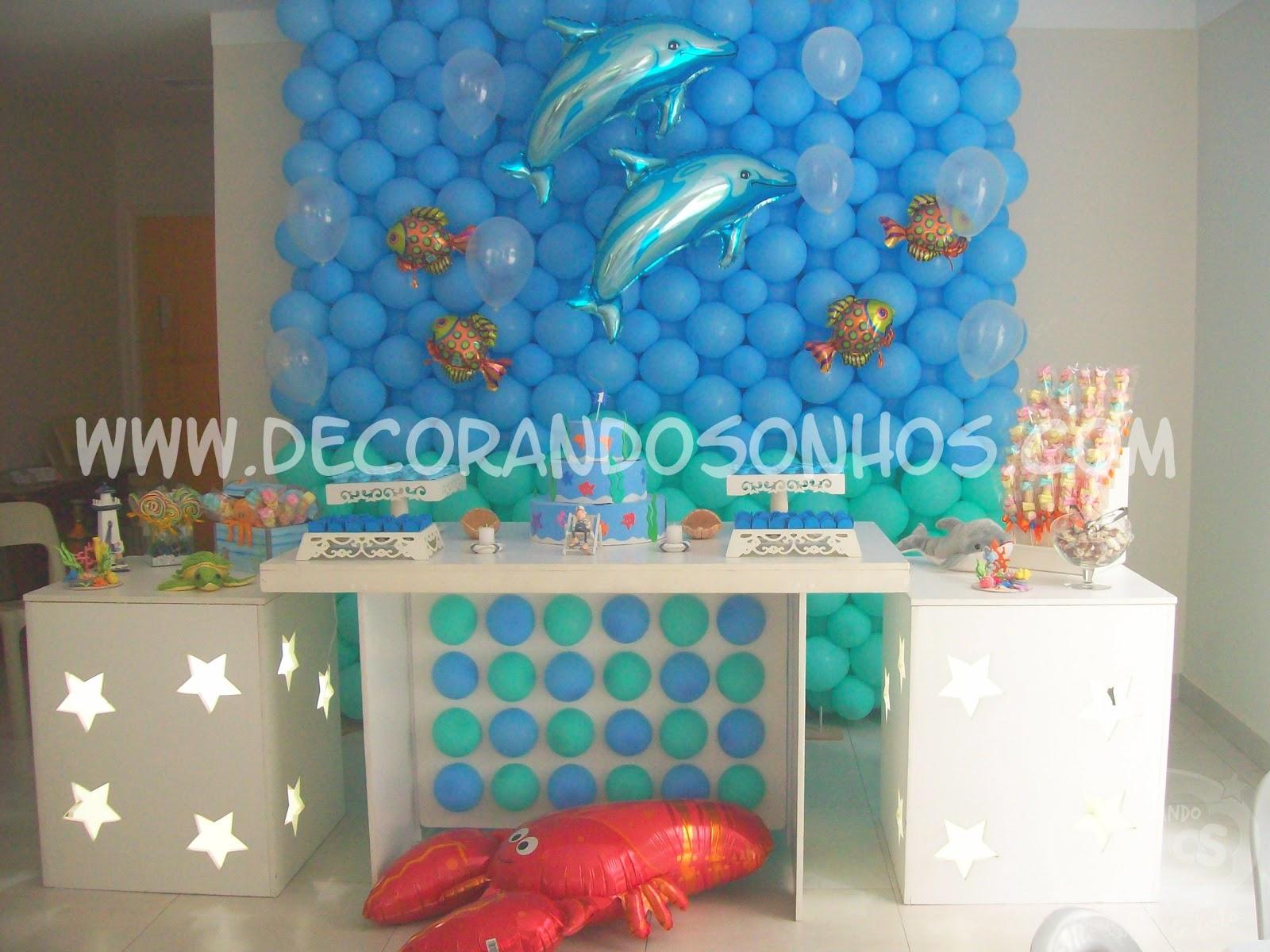 Do Mar Decora    O Fundo Do Mar Decora    O De Festa Infantil Fundo Do