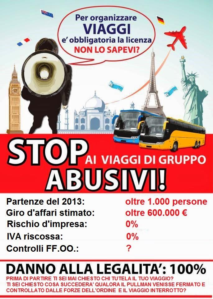 Stop ai viaggi di gruppo abusivi