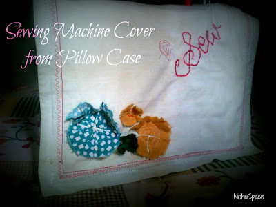 Pillowcase sewing machine cover