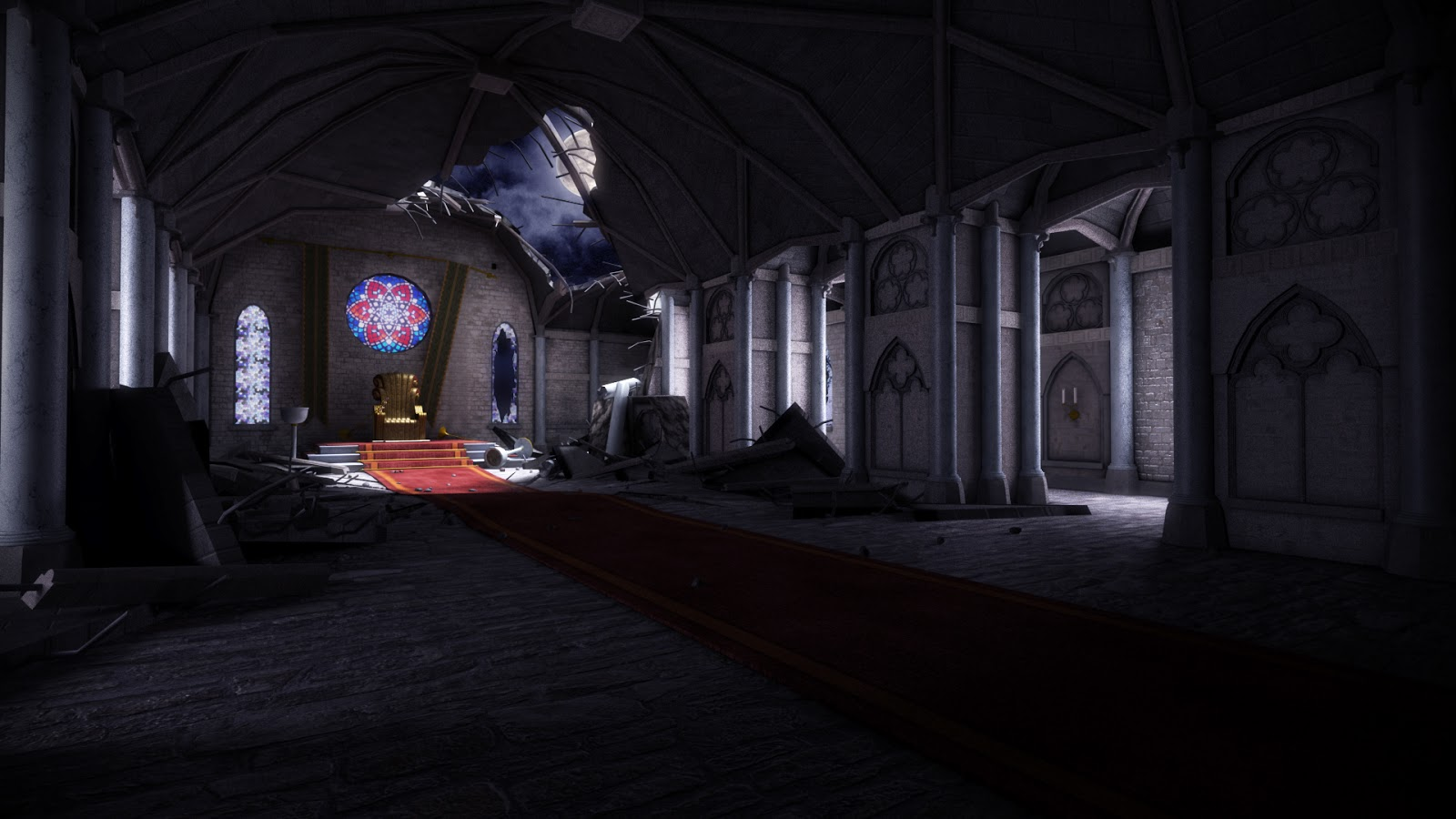 Dark Castle Scene Renders