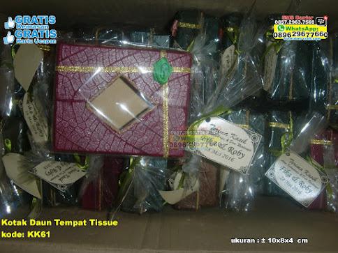 Kotak Daun Tempat Tissue unik