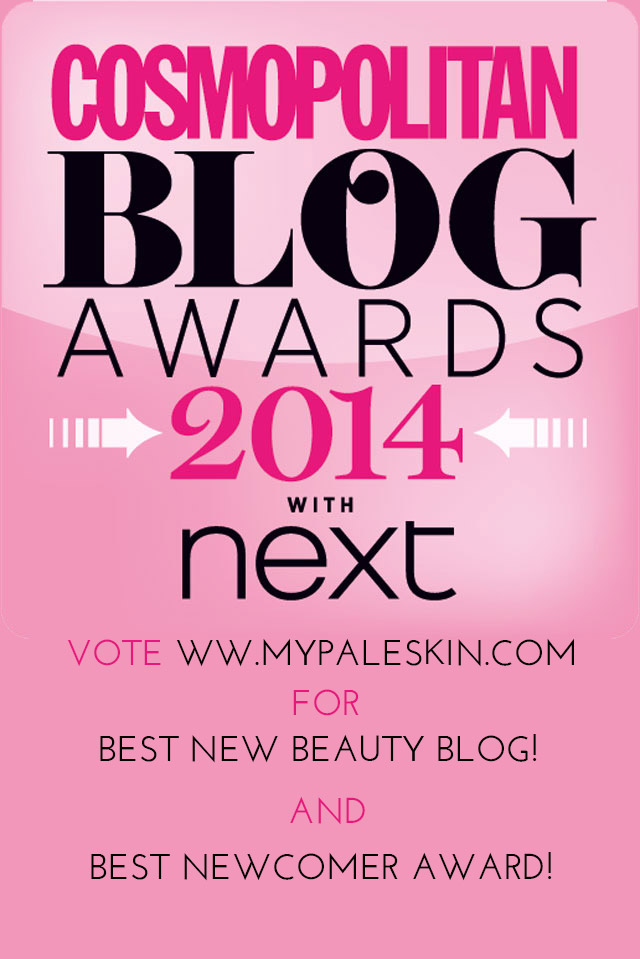 Cosmopolitan Blog Awards, Vote My Pale Skin, My Pale Skin Blog