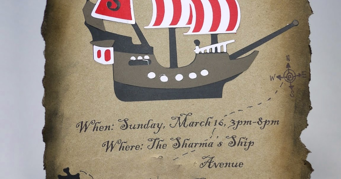 Special Delivery by Jackie: Pirate Treasure Map Baby Shower Invitation