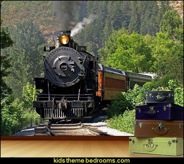 Steam Train Mural