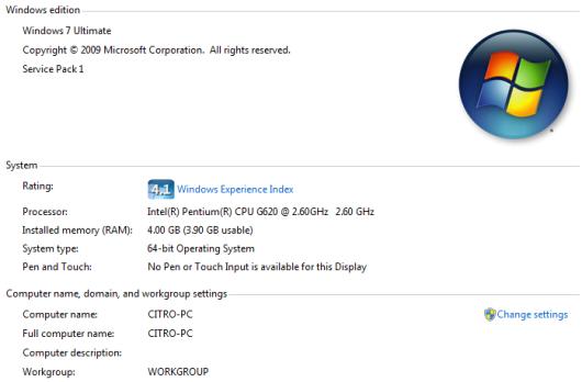 Microsoft Windows 7 Unltimate 64 Bit