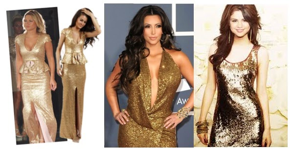 Party dresses that glitter with gold... - LORNA- LITERALLY.