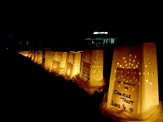 breast cancer blog; best friends support; relay for life; luminaria