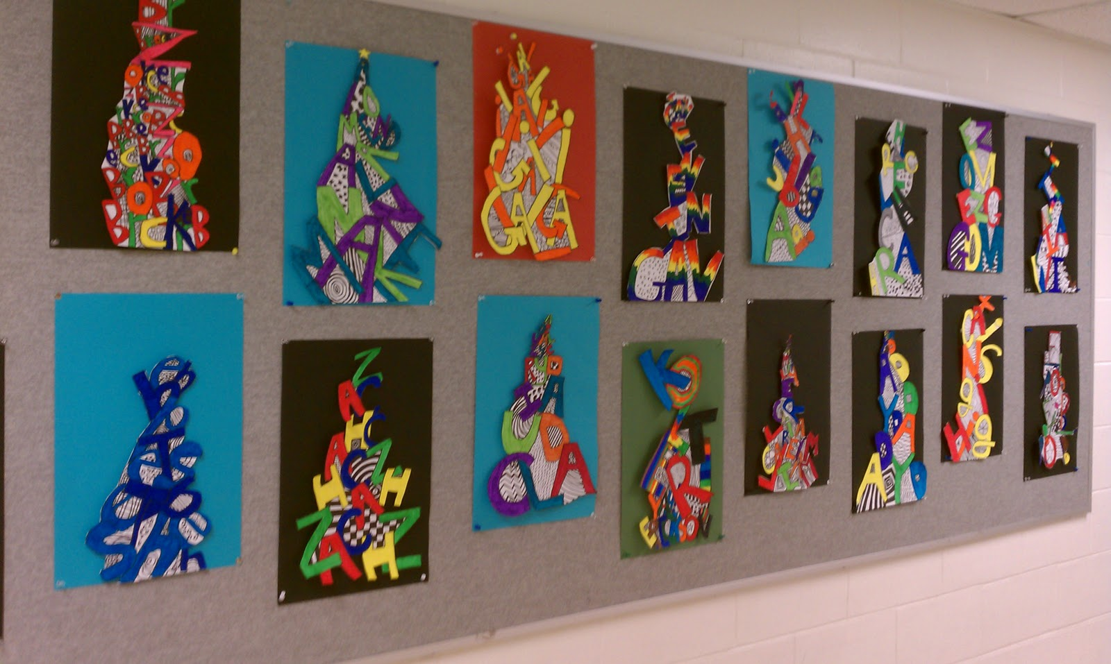 Elementary Art Line Design : Art rocks th grade name pyramids