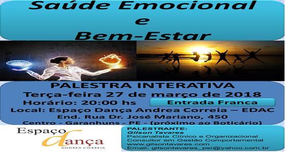 Palestra Interativa Saúde Emocional e Bem-Estar