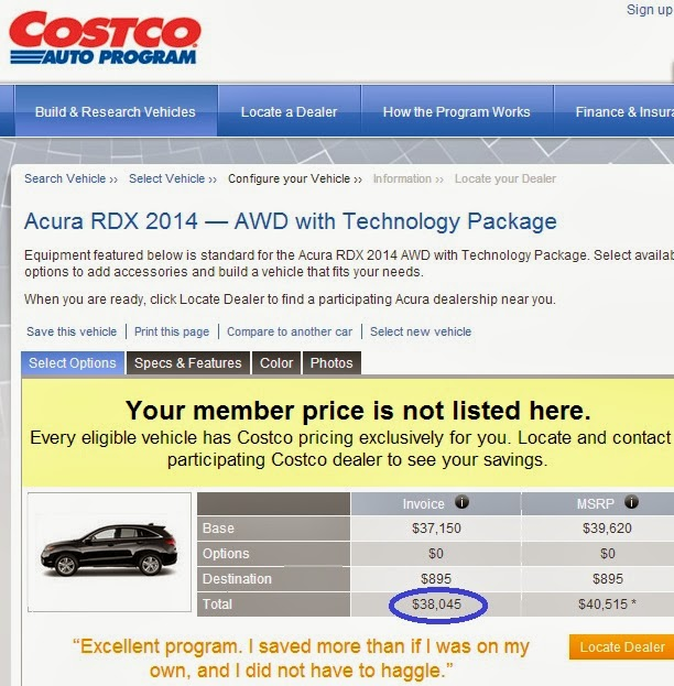 Green Espirit Best Car Buying Tips - Costco car pricing invoice