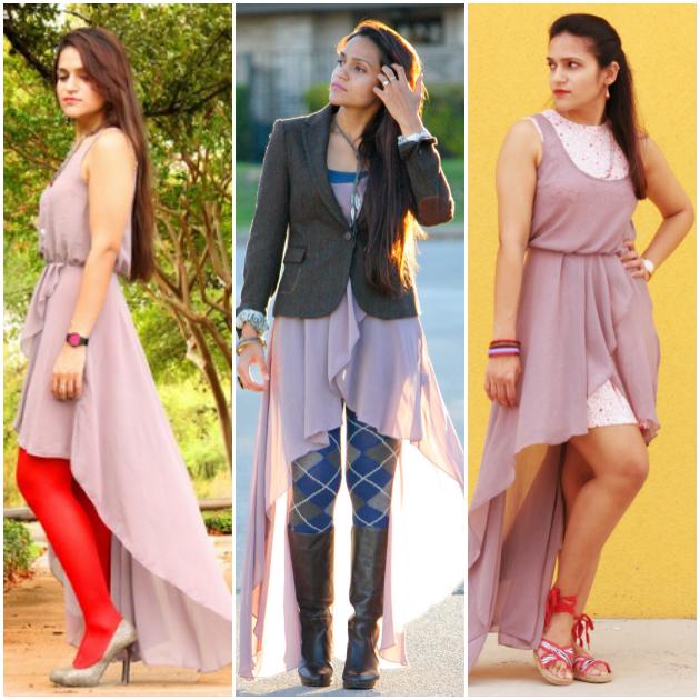 Three Ways To Style A High Low Dress, Tanvii.com