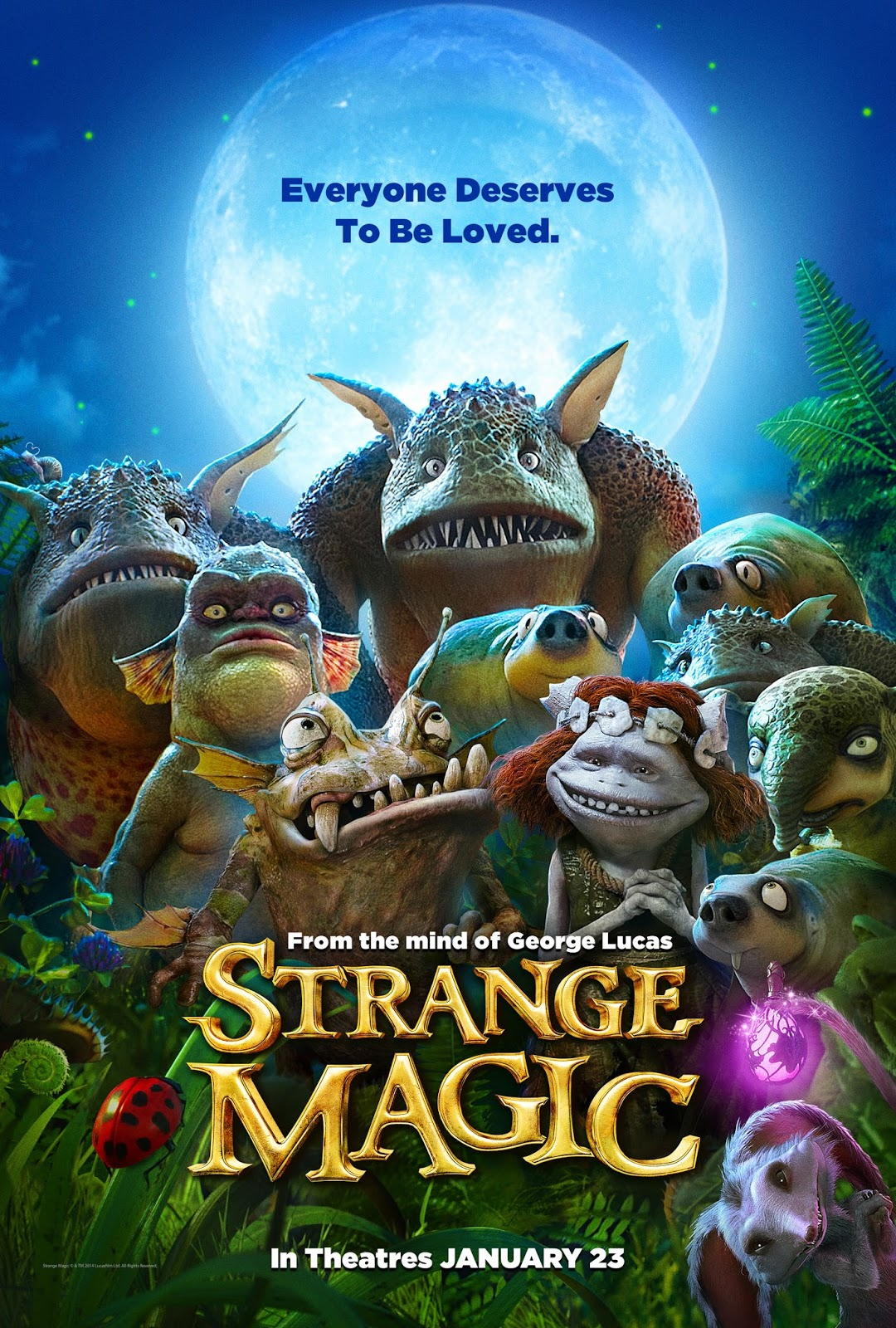 "Today is the day! ""Strange Magic,"" the new animated film from Lucasfilm Ltd., is released in theaters."