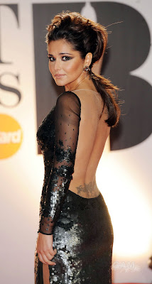 Cheryl Cole In A Metalic Dress